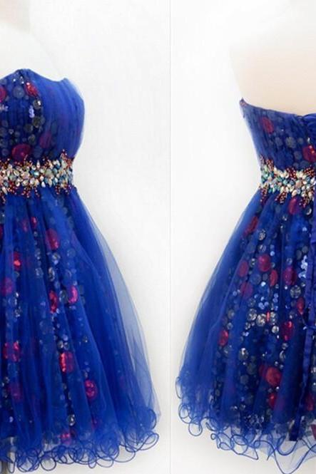 short Homecoming Dresses, blue homecoming Dresses, junior Homecoming Dress, charming homecoming dress, party prom dress, short prom dress, 14198