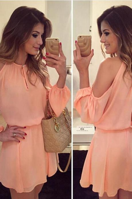 Long Sleeved Strapless Dress