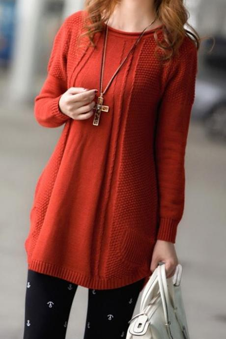 Hot sale Scoop Collar Cotton Women'S Sweater for female