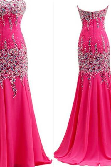 Beading Floor-Length Charming Prom Dresses Sweetheart Floor-Length Evening Dresses Prom Dresses Real Made Prom Dresses