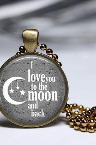I LOVE You To The MOON And Back Pendant Girls Men And Boys Summer