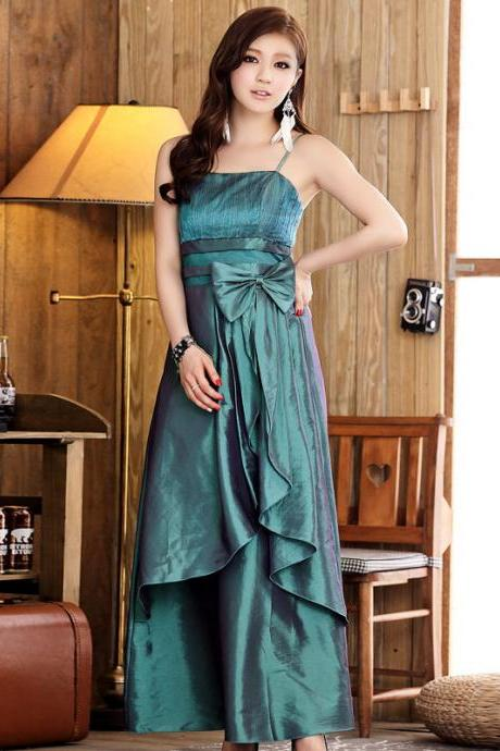 New Elegant Bow Women's Long Evening Formal Party Dress