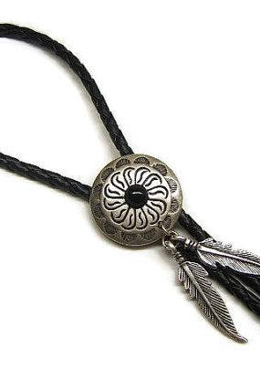 Bolo Tie, Southwest Indian Tribal Concho, Bolos, Western Ties, Lariats, Southwestern, #80151-1, ON SALE