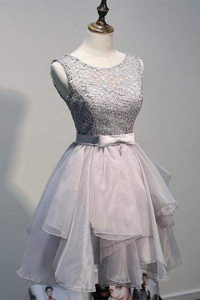 short Homecoming Dresses, gray homecoming Dresses, junior Homecoming Dress, charming homecoming dress, party prom dress, prom dress for girl, 14261
