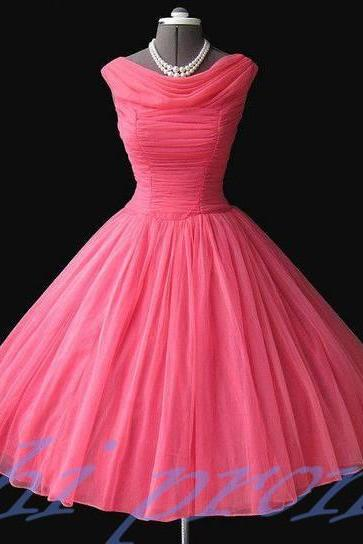 Pink Bridesmaid Dresses,Knee Length Bridesmaid Gown,Ball Gown Bridesmaid Gowns,Fall Bridesmaid Dress,Cheap Bridesmaid Gown,Corset Bridesmaid Dress For Modest Brides Wedding