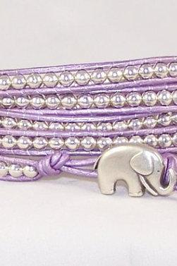 STERLING SILVER Leather Wrap Bracelet, All Sizes, All Colors, Order Now, free Shipping