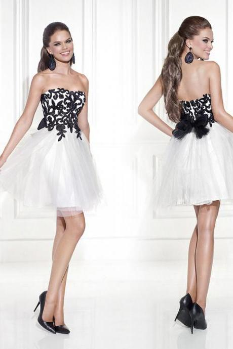 White Short Homecoming Dresses ,2016 Vestidos De Festa Curto Cocktail Dresses, To Party Semi Formal Dress For Prom