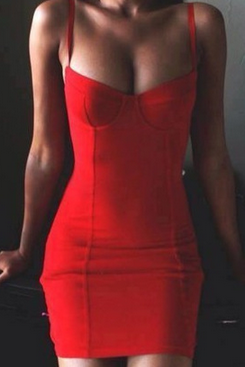 SEXY SLIM SLING PACKAGE HIP DRESS