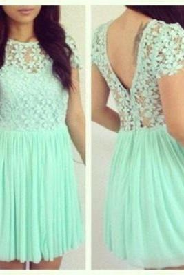 Lace Prom Dress Elegant Women dress,Party dress Homecoming Prom Dress H007