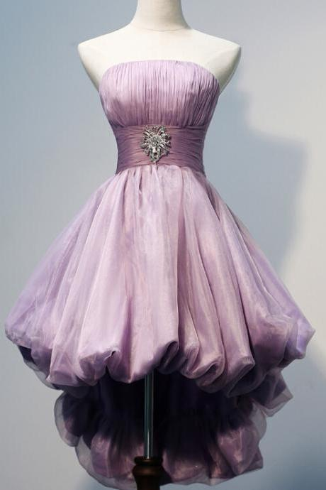 Charming Homecoming Dress, Organza Homecoming Dress, Strapless Homecoming Dress ,Noble Homecoming Dress