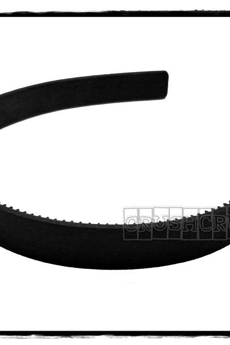 12pcs 15mm (19/32') Black Plastic Headbands Finding with teeth H15