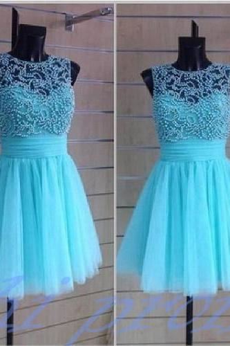 Blue Homecoming Dress,Beading Homecoming Dresses,Blue Beading Homecoming Gowns,Short Prom Gown,Cute Sweet 16 Dress,Elegant Homecoming Dress,Charming Cocktail Dress,Parties Evening Gowns