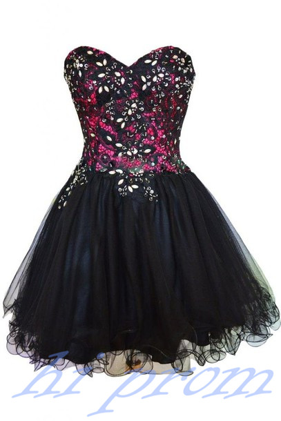Black Homecoming Dress,Tulle Homecoming Dress,Cute Homecoming Dress,2015 Fashion Homecoming Dress,Short Prom Dress,Fashion Homecoming Gowns,Black Sweet 16 Dress For Teens Formal Gowns