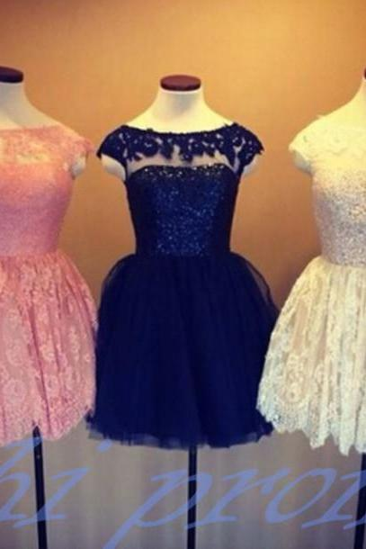 Lace Homecoming Dress,Pink Homecoming Dress,Black Homecoming Dress,Lace Homecoming Dress,Short Prom Dress,Country Homecoming Gowns,Sweet 16 Dress,Simple Homecoming Dress,Ivory Parties Gowns With Sleeves For Teens
