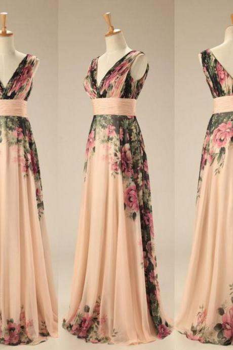 dress party dress, printing elegant dress ,prom dresses, backless Evening Dresses ,Gowns long prom dresses ,2016 Dress chiffon