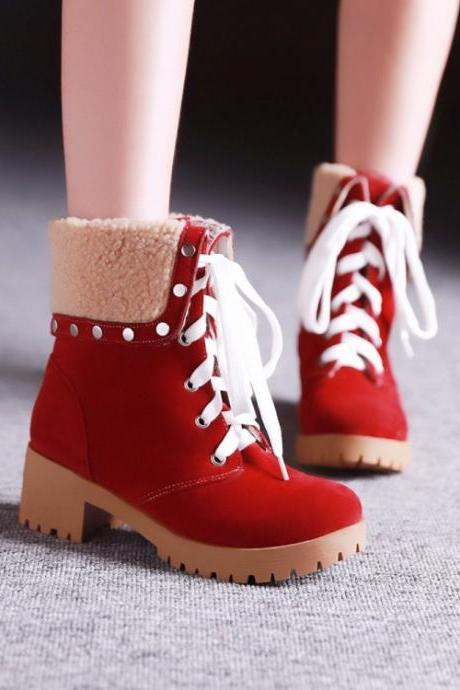 Red Lace Up Studded Boots JI1SVALZK7A9LT1KICMAU F0UJ1AXUCUB
