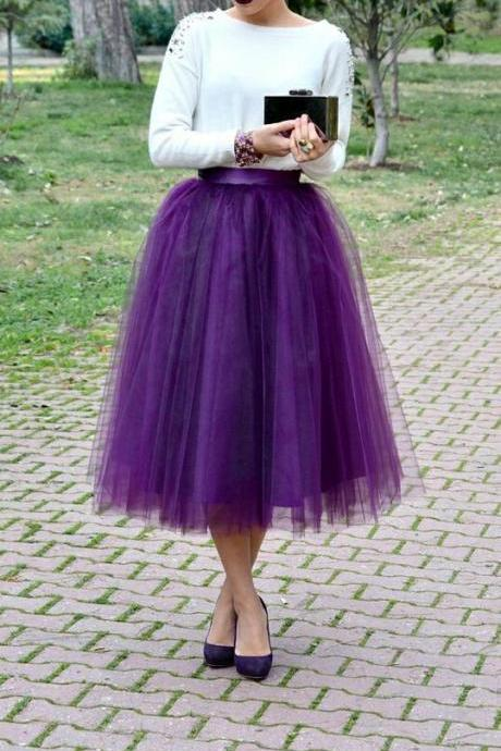 S090111 Charming Women Skirt,Tulle Skirt,Spring/Autumn Skirt,Fashion Street Style Skirt