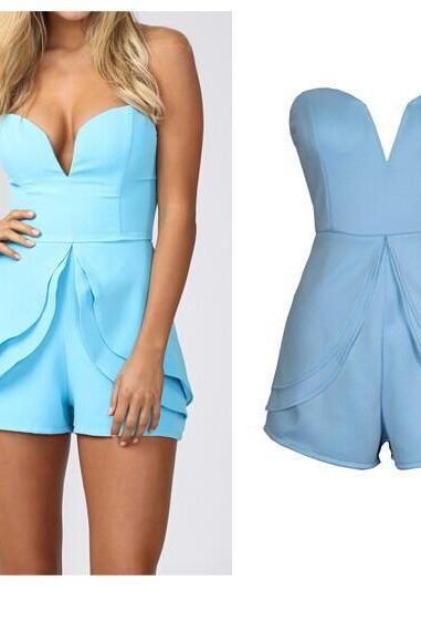 STRAPLESS FASHION SEXY JUMPSUITS MG818GE