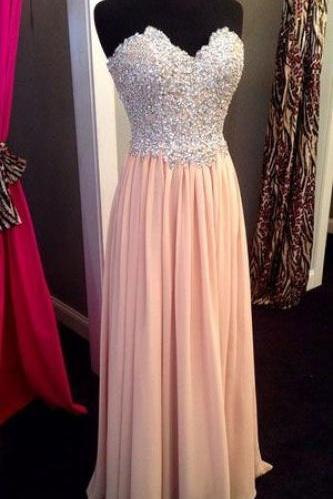 Beading Evening Dresses, Sweetheart Floor-Length Prom Dresses, Real Made Graduation Dresses, Chiffon Sequins Homecoming Dresses,Charming Evening Dresses ,Prom Dresses On Sale