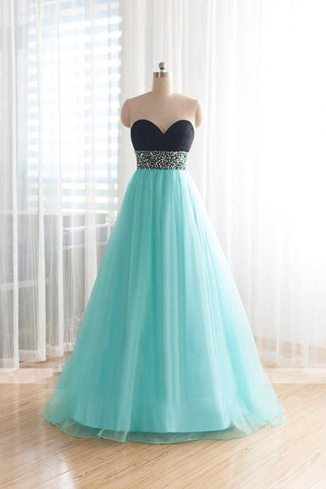 2016 Fashion Organza Long Evening Party Dress, Crystal Shining Decoration Ball Gown ,Prom Dresses