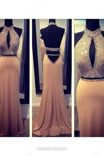 High Quality Mermaid Chiffon Beading Eveing dresses Backless PROM DRESS LONG DRESSES PARTY DRESSES