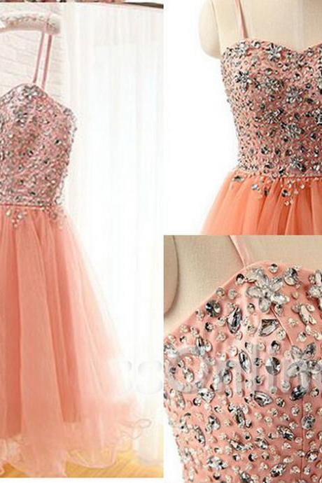 Sweetheart Beading Short Homecoming Dress Tulle Party Dress For Women