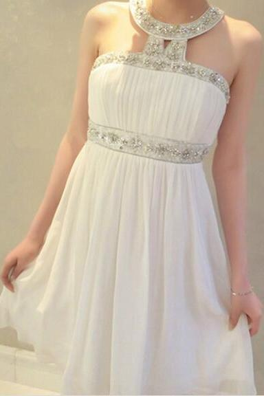Sparkle And Lovely Chiffon Short Party Dress, With Beadings Homecoming Dresses, Evening Dresses, Short Prom Dres