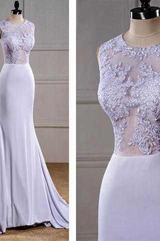 White Wedding Dress, Floor-Length Bridal Gowns, Scoop Wedding Dress, Prom Dresses, White Formal Dress, White Homecoming Dress