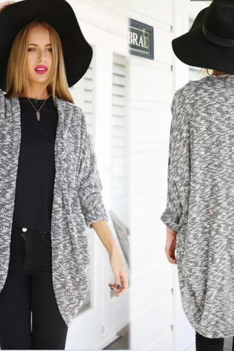 Women's Fashion Autumn long-sleeved cardigan jacket
