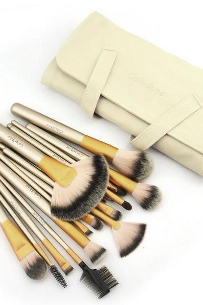 High Quality 18 Pcs Professional Beauty Makeup Brush Set With Bag TJGU8TW7LRRZEMKVX7RT2 V8PBVBX0YCG