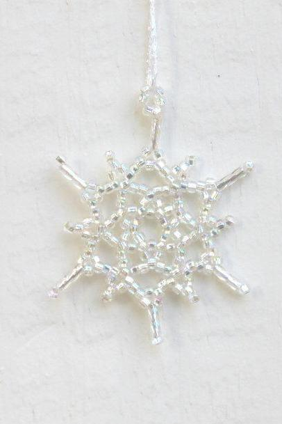 Silver Snowflake Ornament - Wedding Decoration