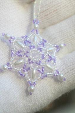 Lavender Snowflake Wedding Favor, Wedding Decoration
