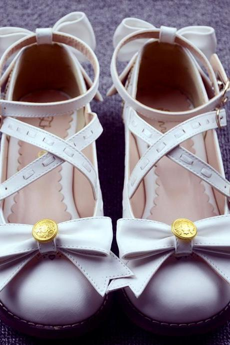 Fashion pure color bowknot shoes 2180570