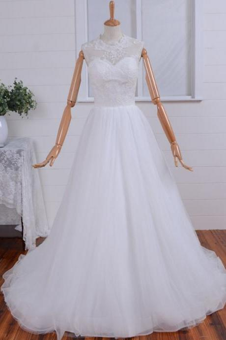 2015 Most Beautiful Beading Embroidery Wedding Dress,Illusion Beading Neckline Mermaid Lace Wedding Dresses, Beading Wedding Dress