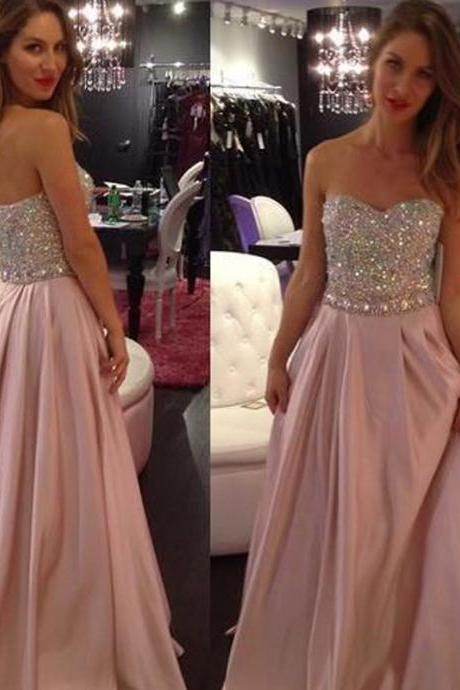 Evening Dresses 2016,Blush Evening Dresses, Evening Gowns, Red Carpet Dresses 2016,Long Prom Dresses, Formal Gowns,Party Dresses