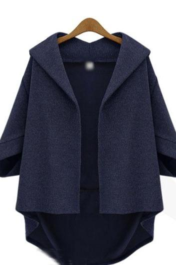 Casual Plus Size Asymmetric Hem Coats (2 colors)