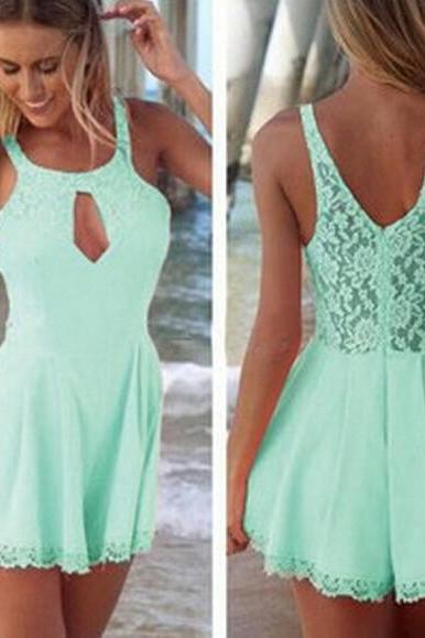 LACE STRAPS SLEEVELESS DRESSES AZ901BF