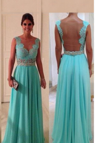 Sexy Lace Strap Long Prom Dress ,Sleeveless Prom Dress,Elegant Women dress,Party dress,evening dress L232