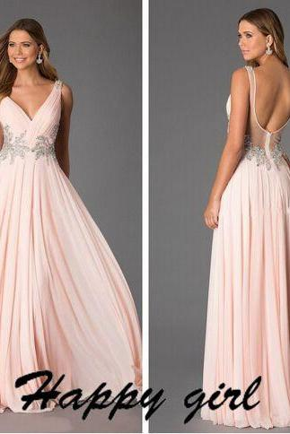 Prom Dresses, Formal Prom Dress, New Prom Dresses, Sexy Prom Dresses, Beading Prom Dresses, 2015 Prom Dresses, V-neck Prom Dresses, Dresses For Prom, Long Prom Dresses, Elegant Prom Dresses, Backless Prom Dresses, Custom Prom Dresses