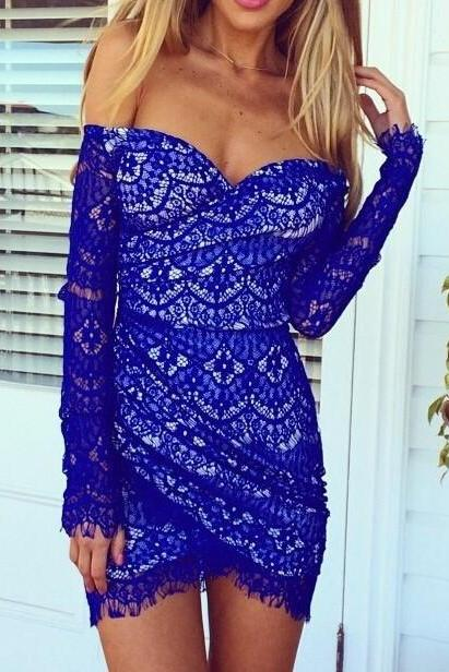 LONG-SLEEVED LACE DRESS AS107BJ