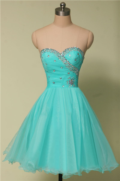 New Light Green Short Homecoming Dresses A-Line Halter Backless Beaded Crystals Prom Dresses Cocktail Gowns