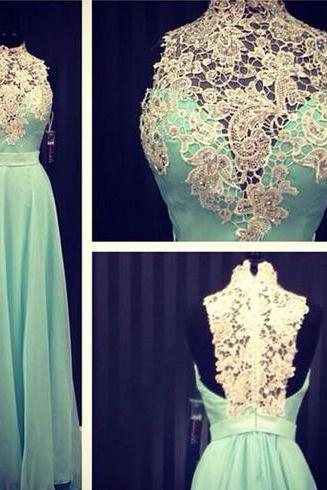 Lace Prom Dress Sleeveless Prom Dress, Long Prom Dress Floor-Length Prom Dress ,Occasion Dress Unique Prom Dress