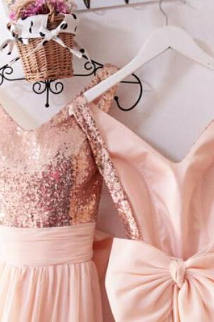 Sexy Backless Prom Dress, Long Prom Sexy Bridesmaid Dresses, Rose Gold Sequin Prom Dress, Sequin Bridesmaid Dresses, Prom Dresses Sexy