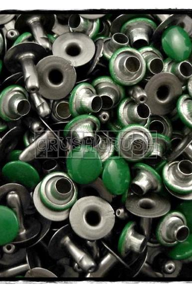 100pcs 7mm Dark Green Round Rivets Rapid Stud RV2317