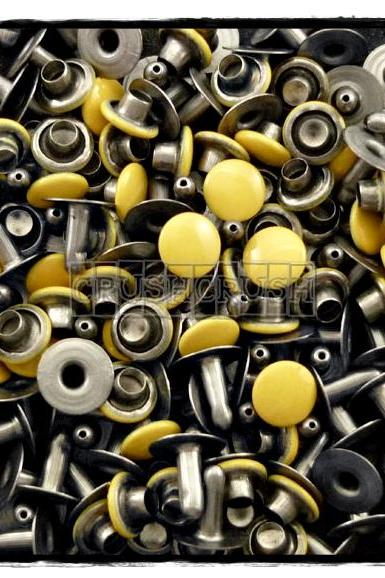 100pcs 6mm Yellow Round Rivets Rapid Stud RV2226