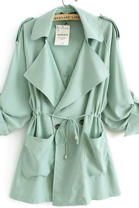 Loose Chiffon Windbreaker Jacket coat