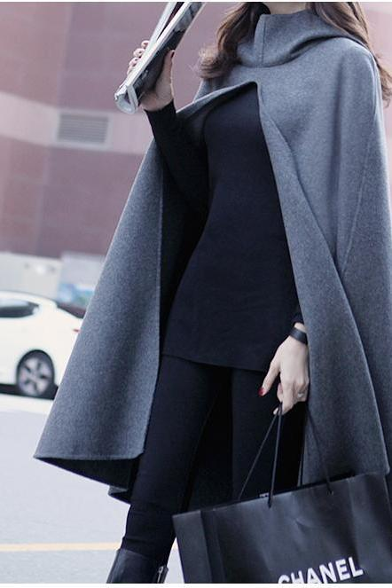 Sexy hooded cloak coat 1560948