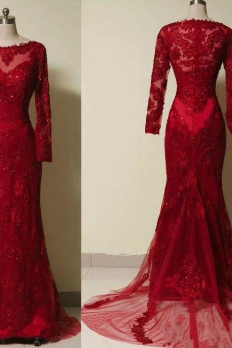 Beautiful handmade lace applique gauze ball gown Red wine Red PROM dress, a Red ball gown dress Formal clothes to sell Red Red Formal Dresses For Sale