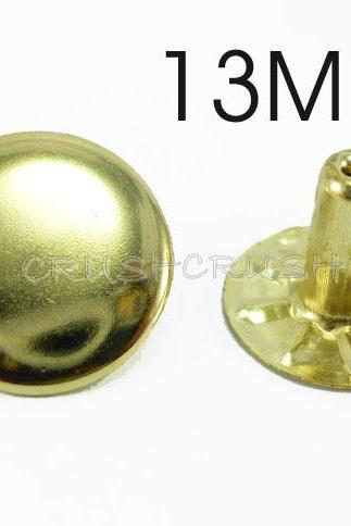 25x13mm Gold Round RIVETS Speedy Rivets RV2313