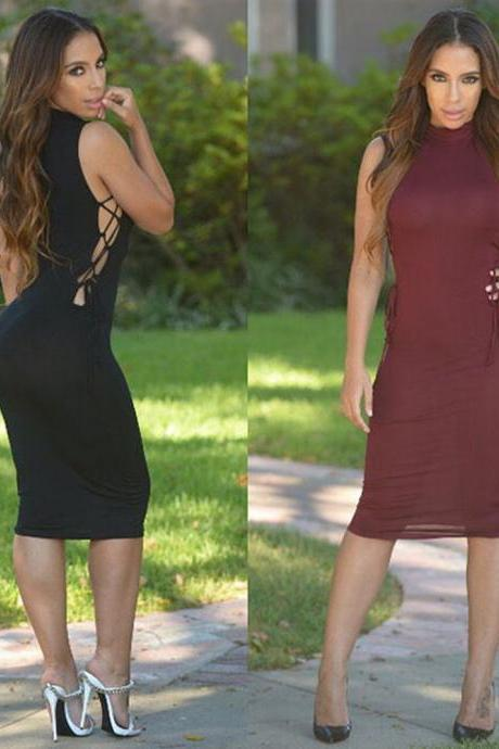 HOT SIDE HOLLOW OUT SEXY EST DRESS